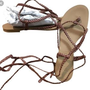 b0c2ff151826 Colin Stuart Shoes - EUC Colin Stuart Braided Ankle Wrap Sandals